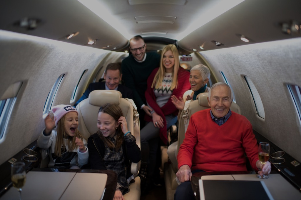 group flight commercial airliner charter